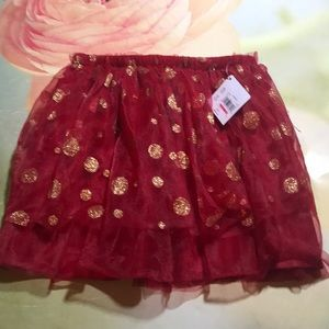 Red and Gold Holiday Skirt/ Tutu Size 5T NWT